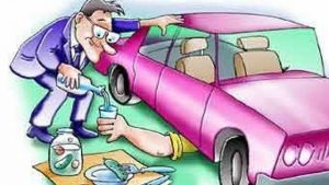 boozer repairs the car